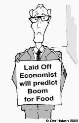 laid off economist will predict boom for food