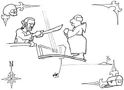 Piraten zum ausmalen - Claudius