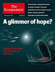 Economist Cover with Hunting Light Fish