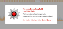 Screenshot Wolfram Alpha