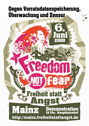 Freedom Not Fear Demo Plakat